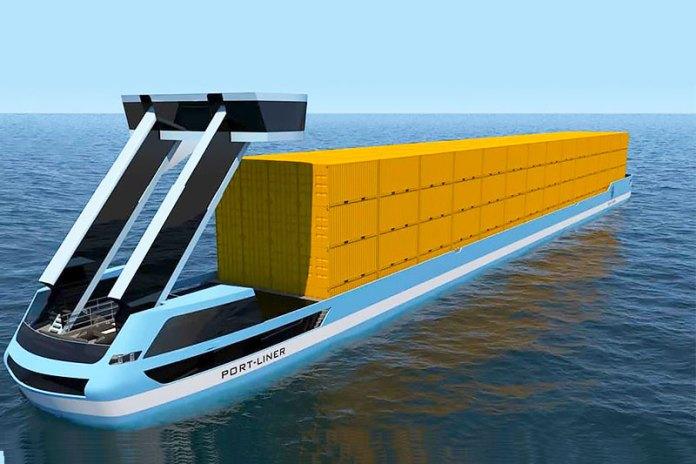 Barcos portacontenedores eléctricos